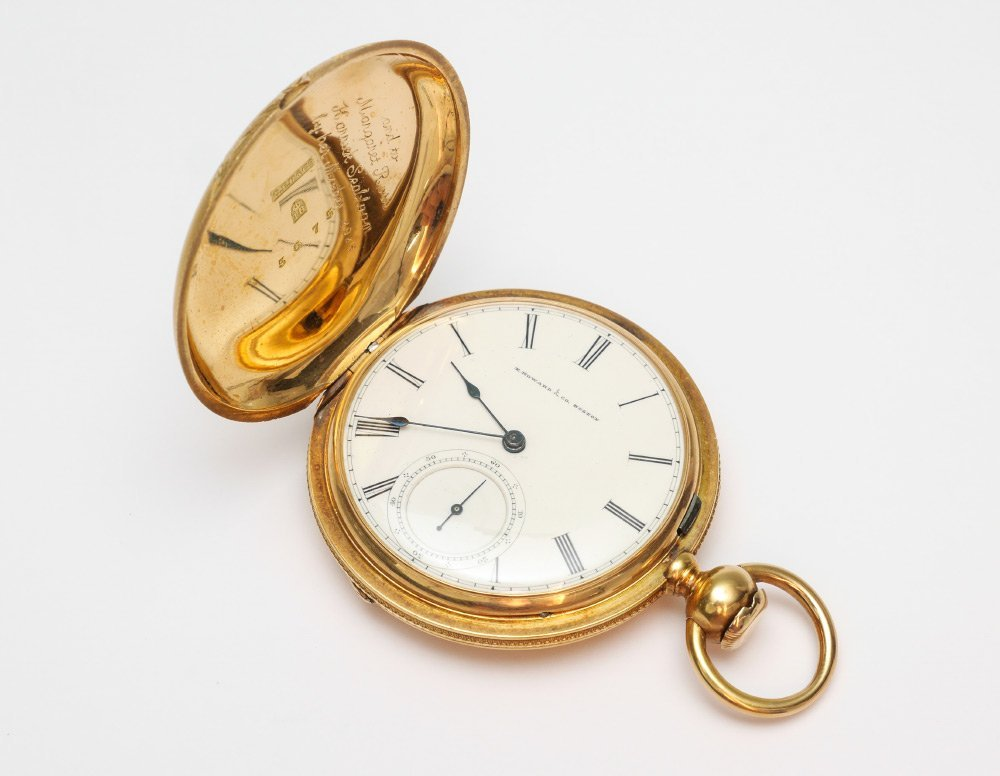 IMPORTANT 18K GOLD E. HOWARD POCKET WATCH