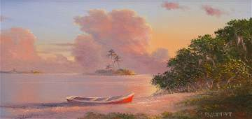 AHMED ELTEMTAMY INDIAN RIVER PAINTING