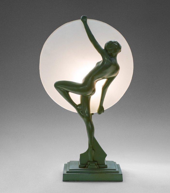 FRANKART ART DECO FIGURAL SILHOUETTE LAMP