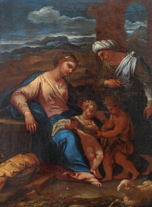EARLY OLD MASTER STYLE FINE RELIGIOUS OIL PAINTING