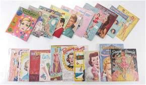20 VINTAGE CELEBRITY PAPER DOLL BOOKS