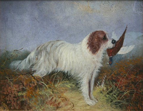 14: LANGLOIS PAINTING DOG WITH BIRD