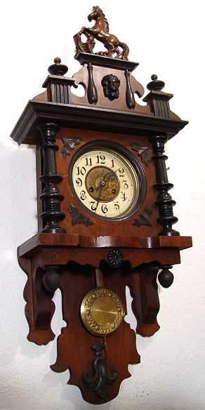 298: GERMAN JUNGHANS FREE SWINGER CLOCK