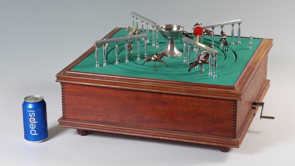 FRENCH MECHANICAL HORSE RACE GAME