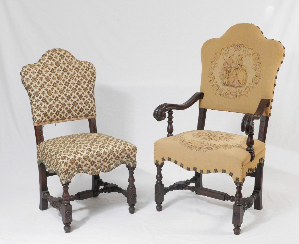 CENTURY FURNITURE SET OF 6 CARVED DINING ROOM CHAIRS