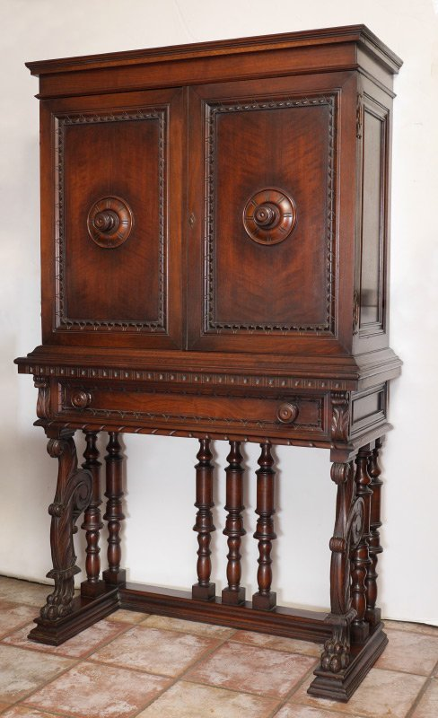 CENTURY FURNITURE GOTHIC CARVE BLIND FRONT CHINA HUTCH