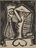 LARGE PABLO PICASSO LITHOGRAPH FIGURE COMPOSEE II