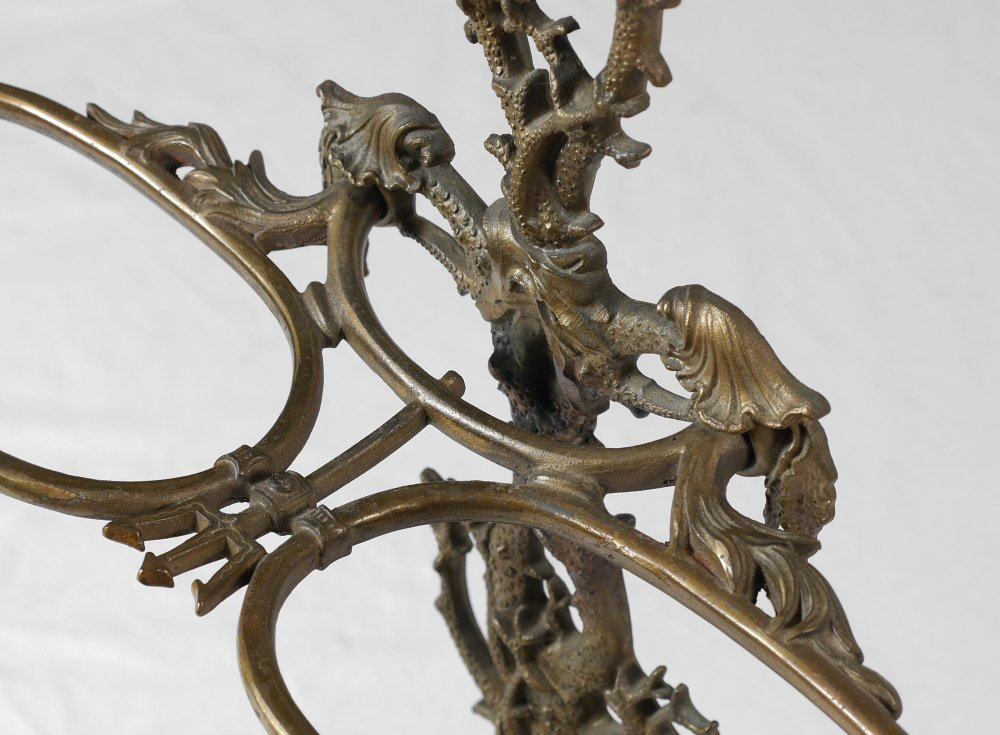 FIGURAL CAST IRON UMBRELLA STAND - 2