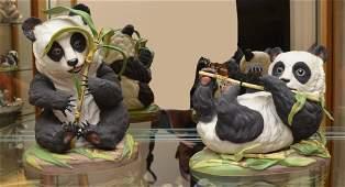 BOEHM PORCELAIN PANDA FIGURES 40047  40054
