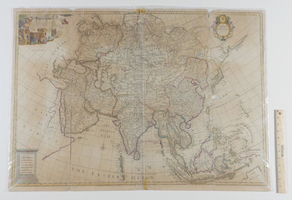JOHN SENEX MAP OF ASIA