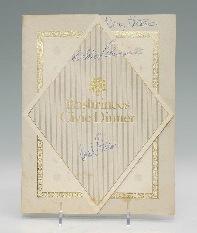 HALL OF FAME SIGNED FOOTBALL & DINNER PROGRAM - 7