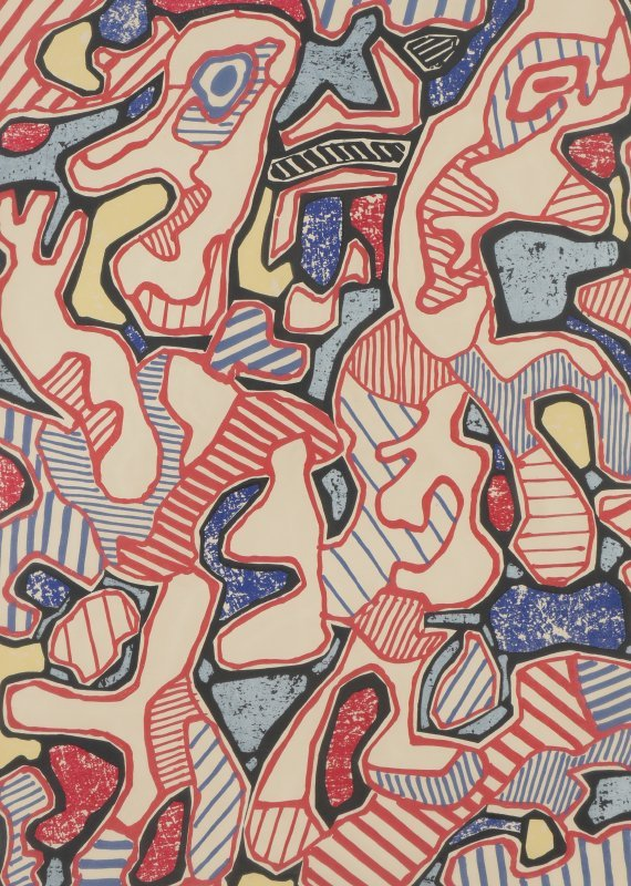 "DUBUFFET LITHOGRAPH ""AFFAIRMENTS"" 1964"
