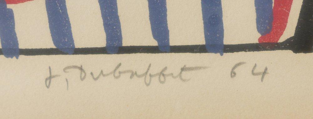 """DUBUFFET LITHOGRAPH """"AFFAIRMENTS"""" 1964 - 3"""