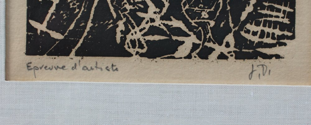 2 JEAN DUBUFFETS ARTISTS PROOF WOODCUTS - 3