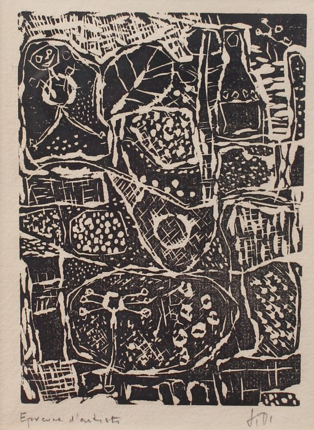 2 JEAN DUBUFFETS ARTISTS PROOF WOODCUTS - 4