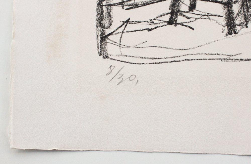 """ALBERTO GIACOMETTI LITHOGRAPH """"STUDIO II"""" 1954 - 4"""