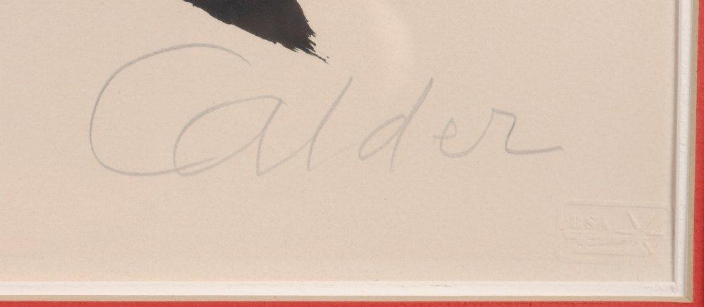 """ALEXANDER CALDER LITHOGRAPH """"MOON & RED STAR"""" - 3"""