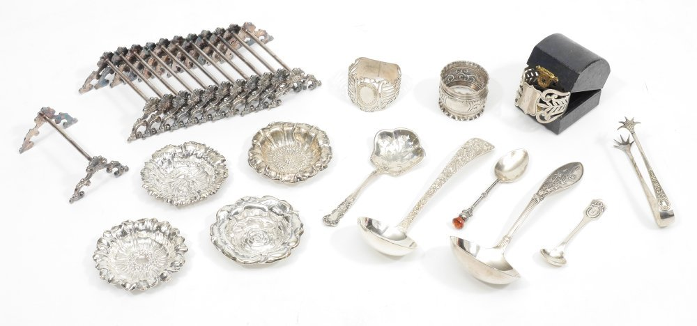 ESTATE COLLECTION OF STERLING & SILVERPLATE