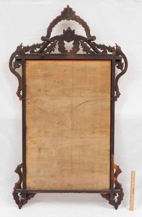 CARVED GILT WOOD WALL MIRROR - 5