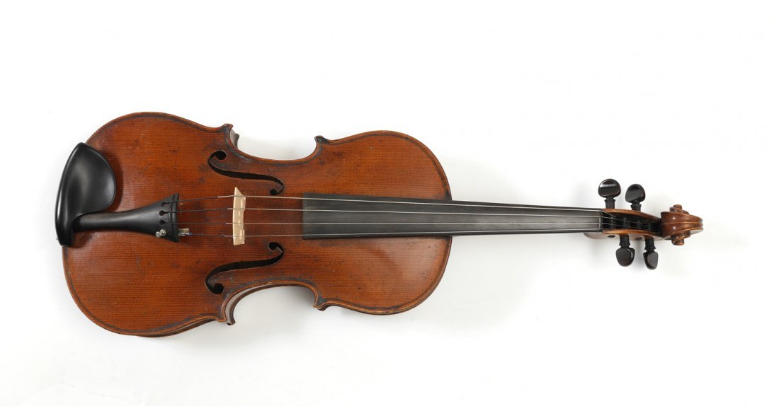 VINTAGE SMALL VIOLA LABELED STRADIVARIUS - 3