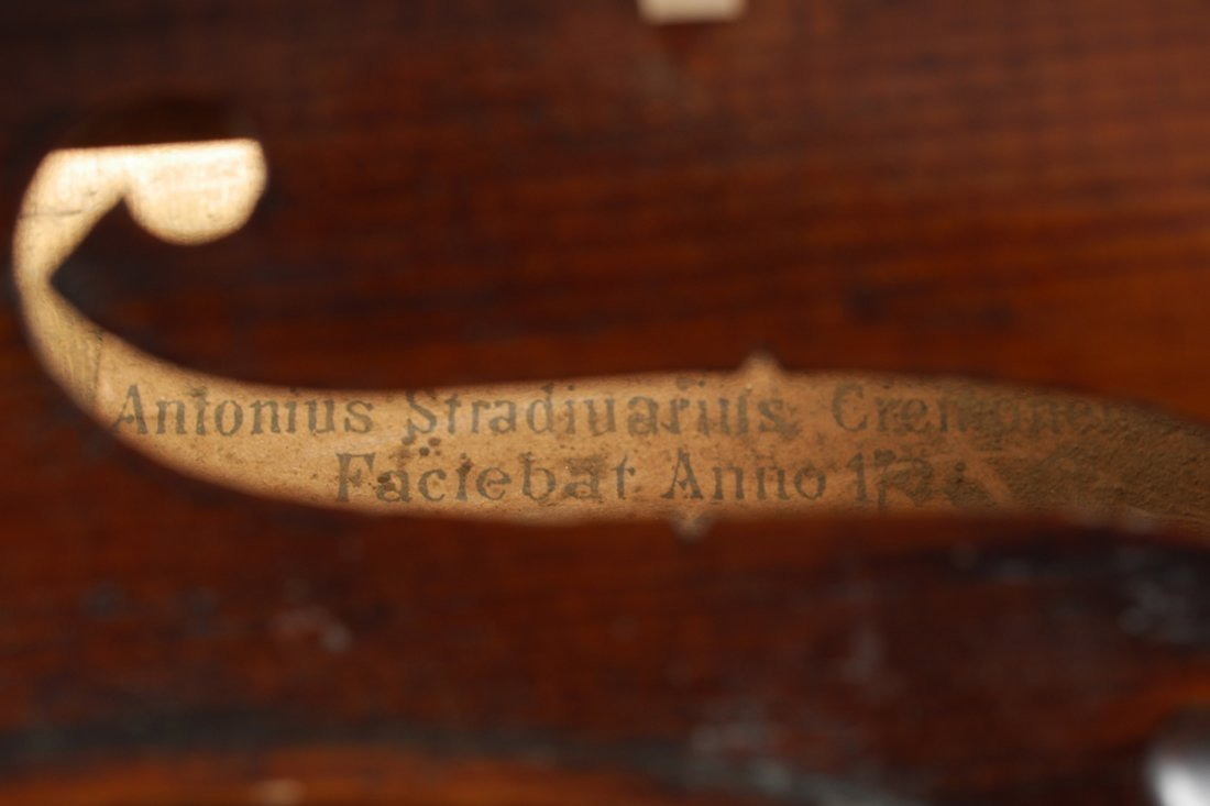 VINTAGE SMALL VIOLA LABELED STRADIVARIUS - 7