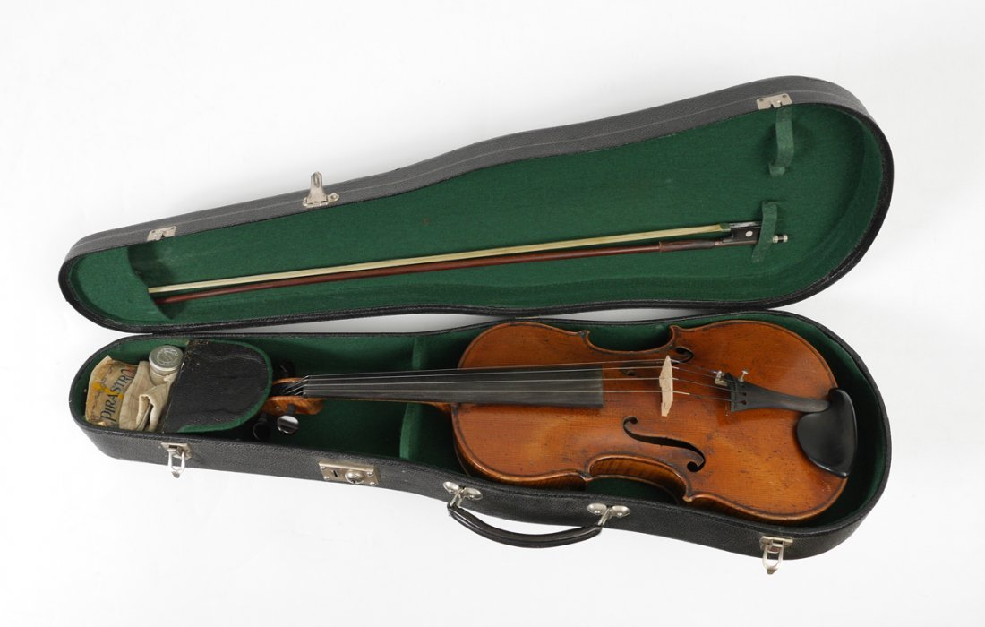 VINTAGE SMALL VIOLA LABELED STRADIVARIUS - 8