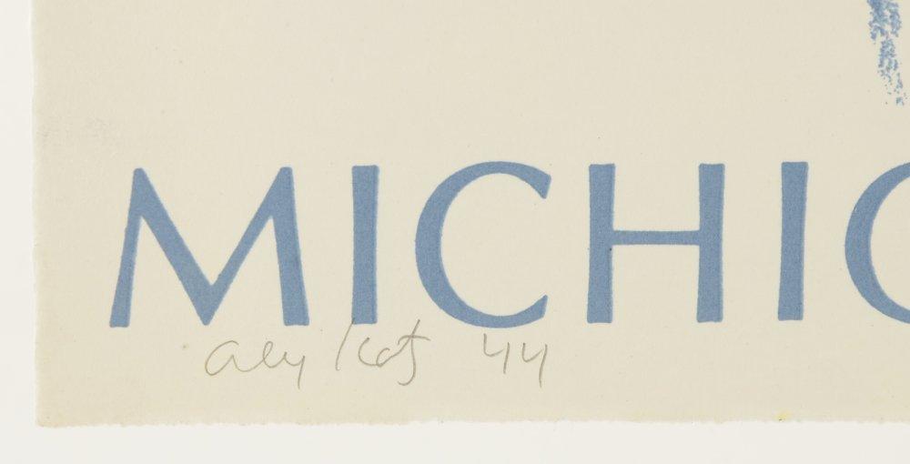 ALEX KATZ LITHOGRAPH FOR MICHIGAN OPERA THEATRE - 2