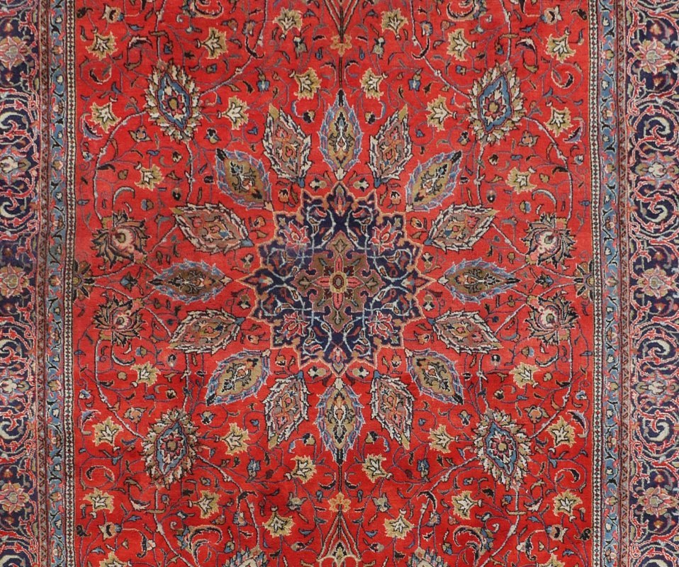 "PERSIAN HAND KNOTTED WOOL RUG, 7'3"" x 10'7"" - 2"