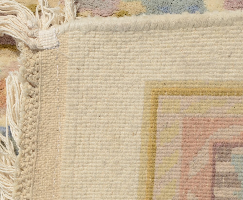 """INDO-AUBUSSON HAND KNOTTED WOOL RUG 9'1"""" x 12'3"""" - 4"""