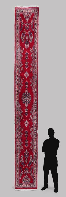 PERSIAN DERGAZINE OR LILLIHAN HK WOOL RUNNER 2'9""