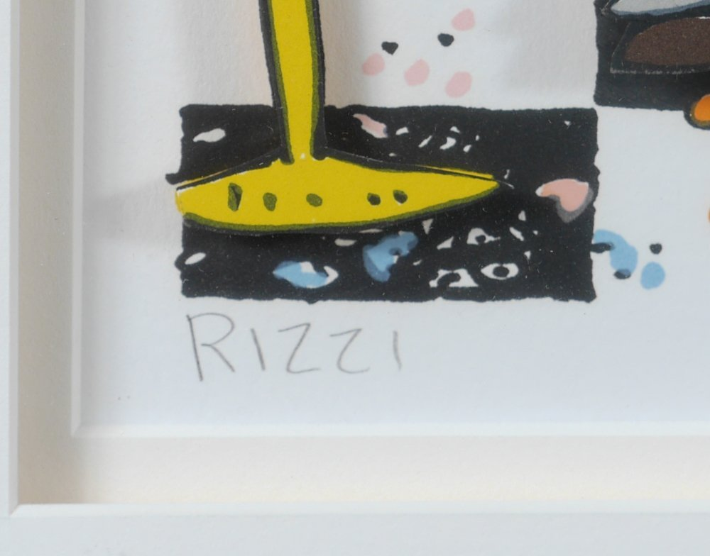 LARGE RIZZI 3D LITHOGRAPH IT'S TIME TO BUY A NEW TV - 4