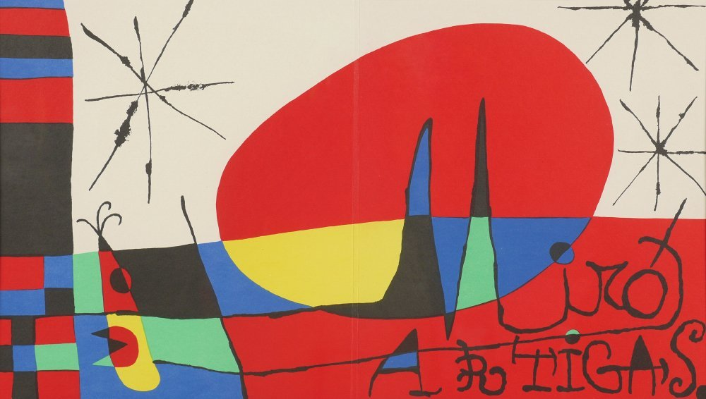 MIRO LITHOGRAPH FROM DERRIERE LE MIROIR