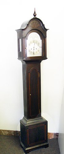 1293: HERSCHEDES MAHOGANY CASE GRANDMOTHERS CLOCK:  Als