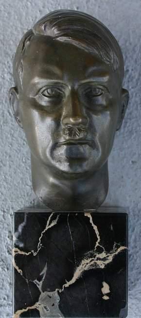 PERIOD BRONZE OF HITLER SIGNED K. BUTLER