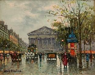 ANTOINE BLANCHARD PARISIAN STREET PAINTING