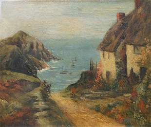 NICE PAINTING BRITTANY? COAST SIGNED