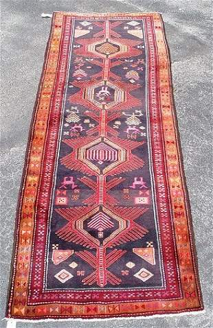 """HAND MADE ANTIQUE CAUCASIAN RUG Approx 9'8"""" x 3'7"""""""