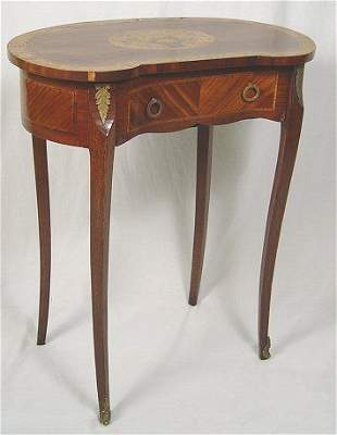19TH C FRENCH MARQUETRY STAND FLOWER BASKET