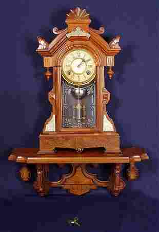 VICTORIAN SHELF CLOCK AND WALL BRACKET