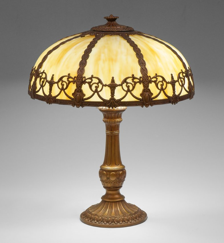 CARAMEL SLAG BENT PANEL LAMP