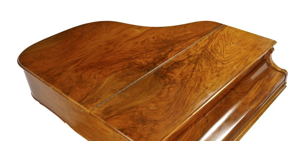 KNABE BURL WALNUT BABY GRAND PIANO - 2