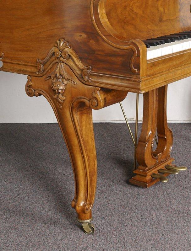 KNABE BURL WALNUT BABY GRAND PIANO - 3