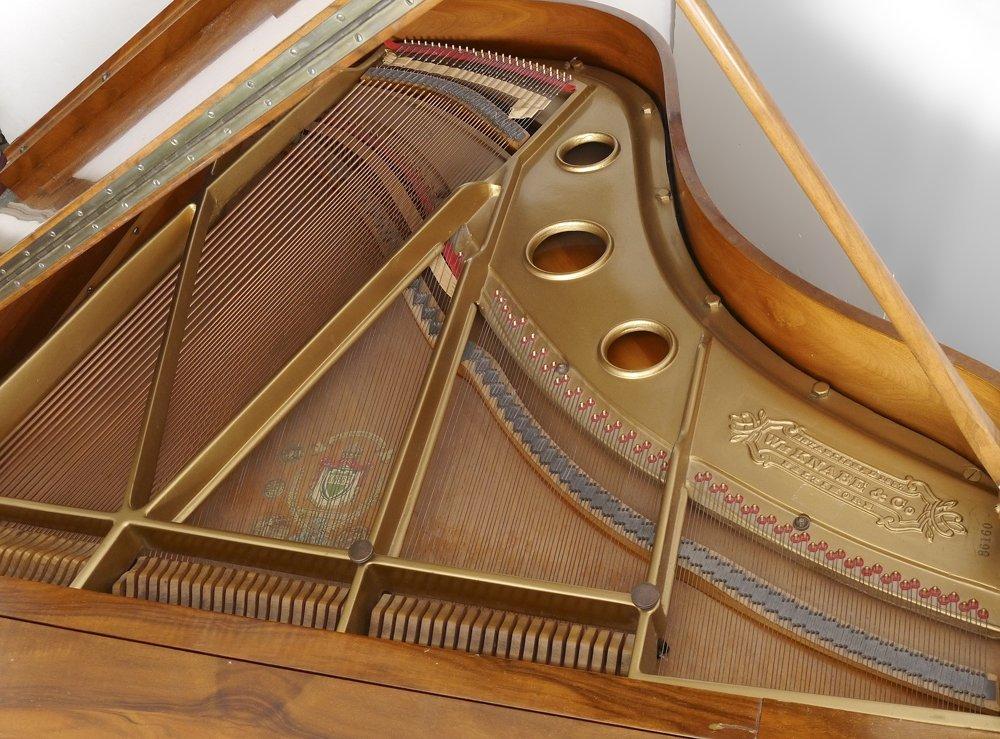 KNABE BURL WALNUT BABY GRAND PIANO - 9