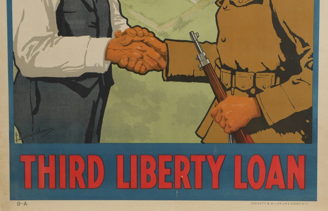 4 WWI LIBERTY BOND POSTERS - 3
