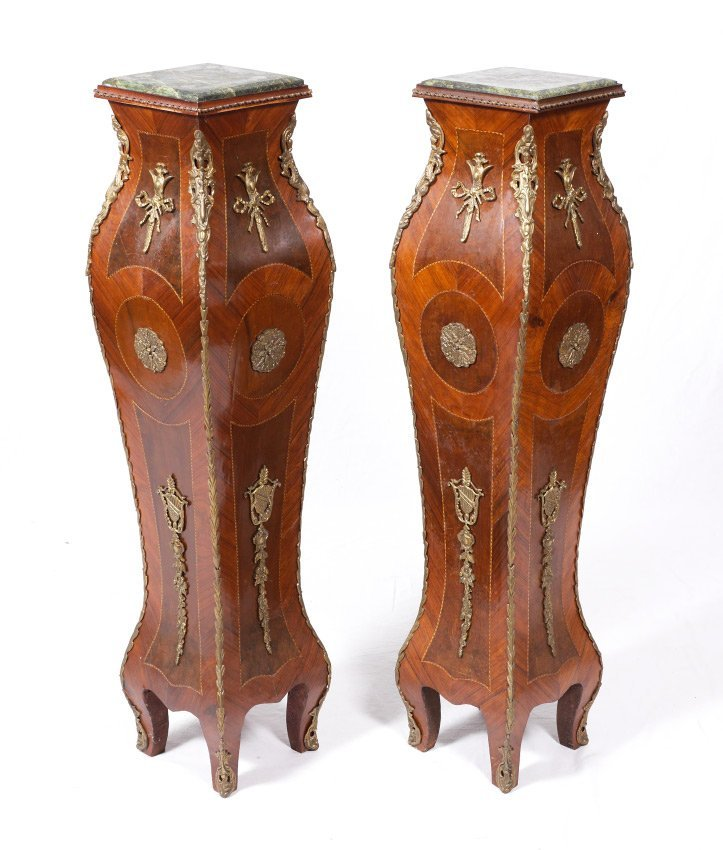PAIR OF LOUIS XV STYLE STANDS