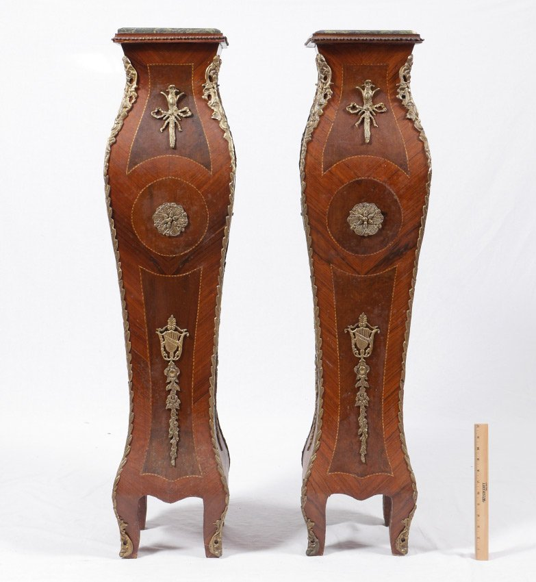 PAIR OF LOUIS XV STYLE STANDS - 2