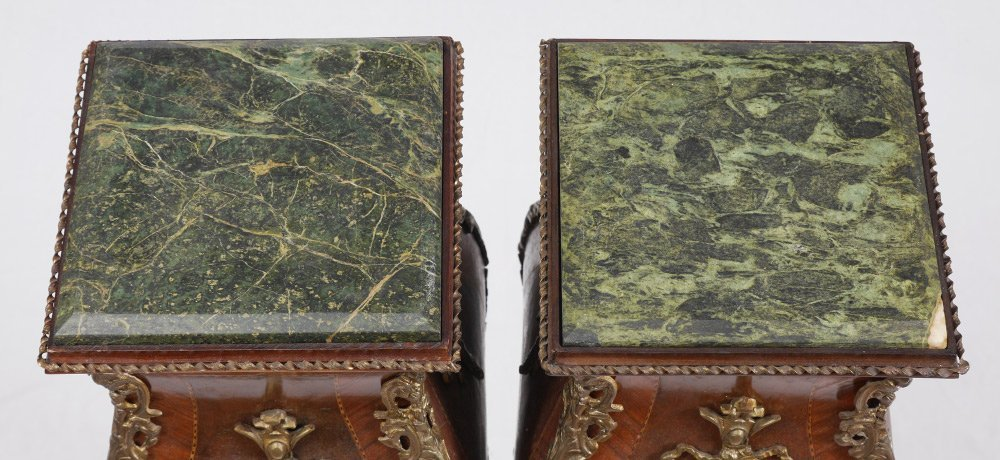 PAIR OF LOUIS XV STYLE STANDS - 3