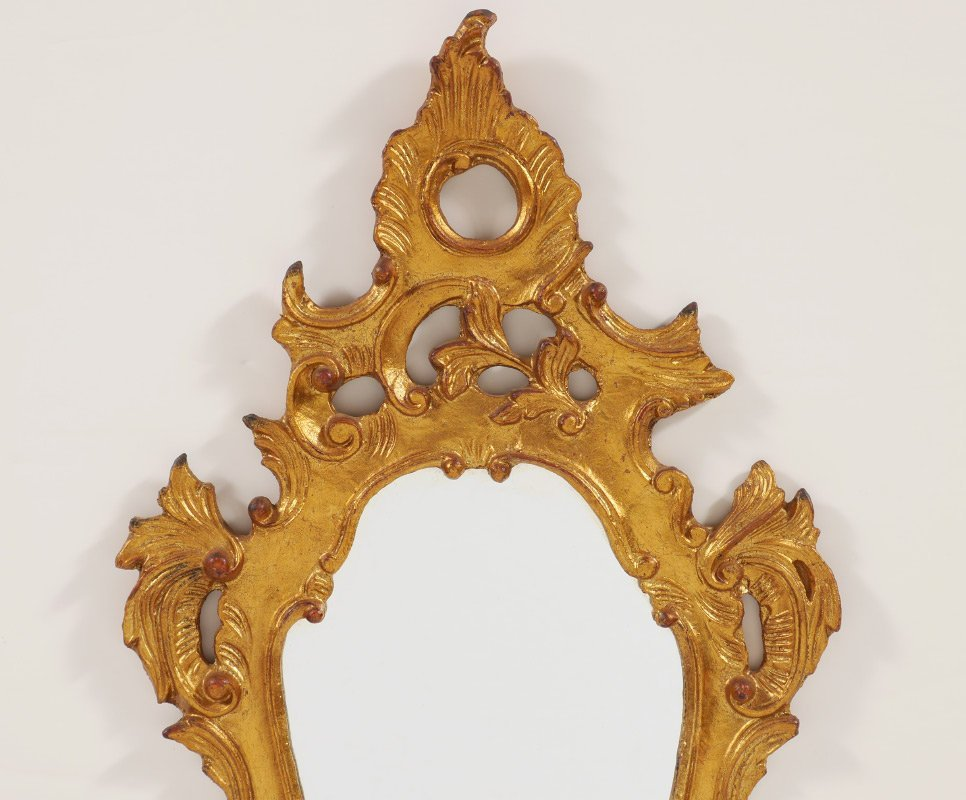 CARVED GILT WOOD ROCOCO STYLE MIRROR - 2