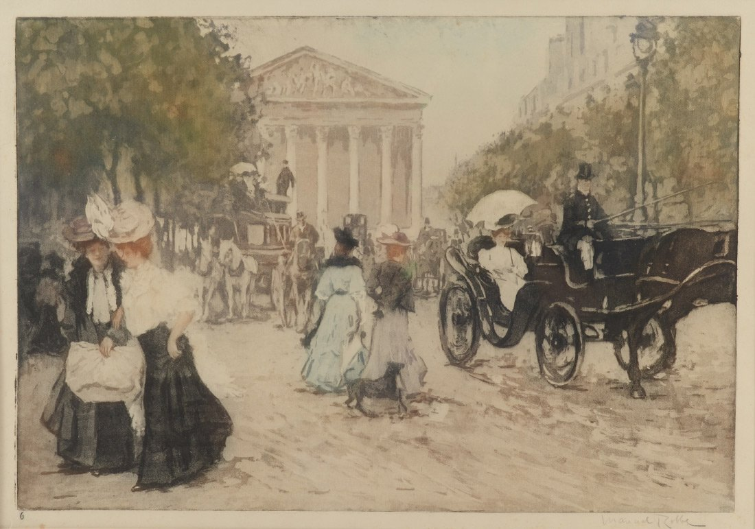 MANUEL ROBBE AQUATINT LA RUE ROYALE