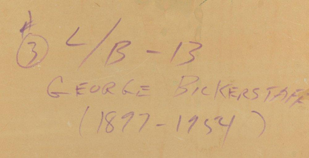 BICKERSTAFF WESTERN DESERT LANDSCAPE PAINTING - 4